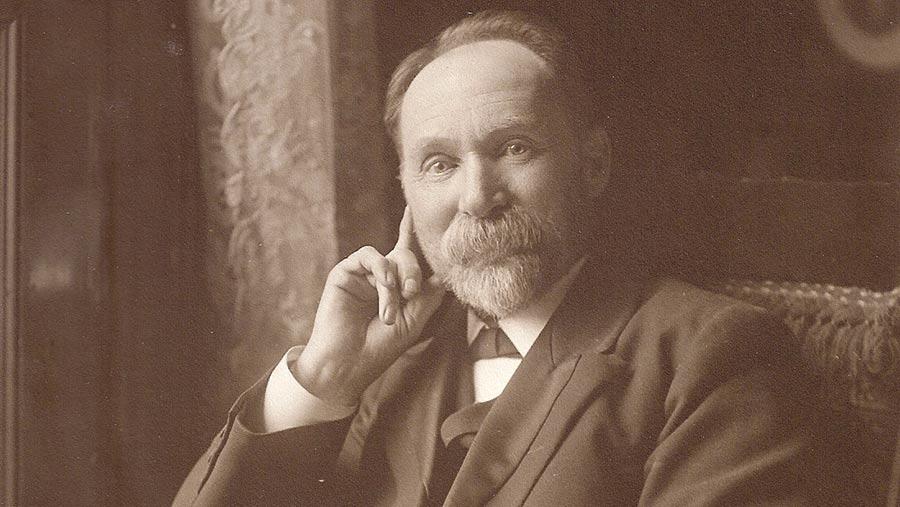 A black-and-white photograph of Thomas Corbett