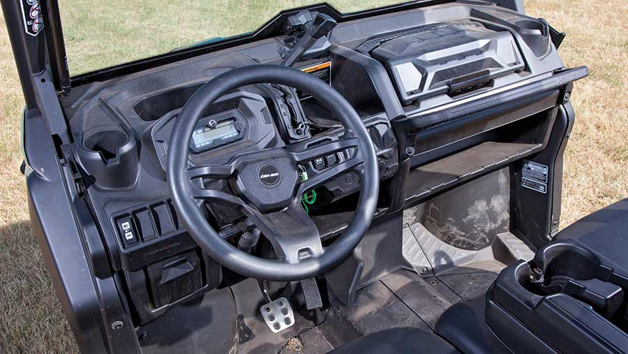 Can Am buggy interior view