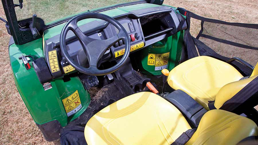 Interior of John Deere buggy