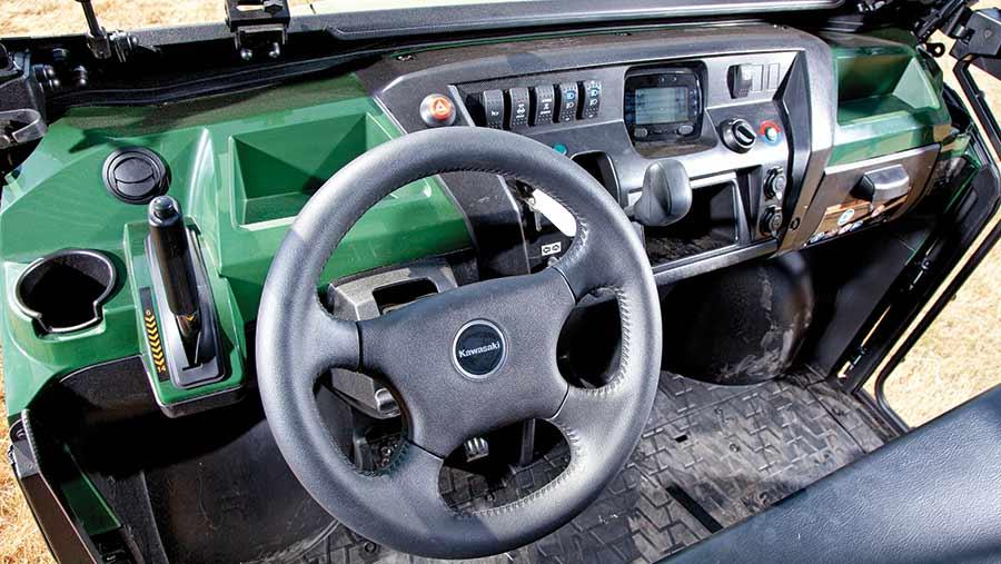 Kawasaki Mule interior