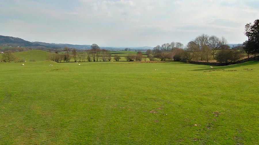 38 acres of pasture at Underbarrow near Kendal