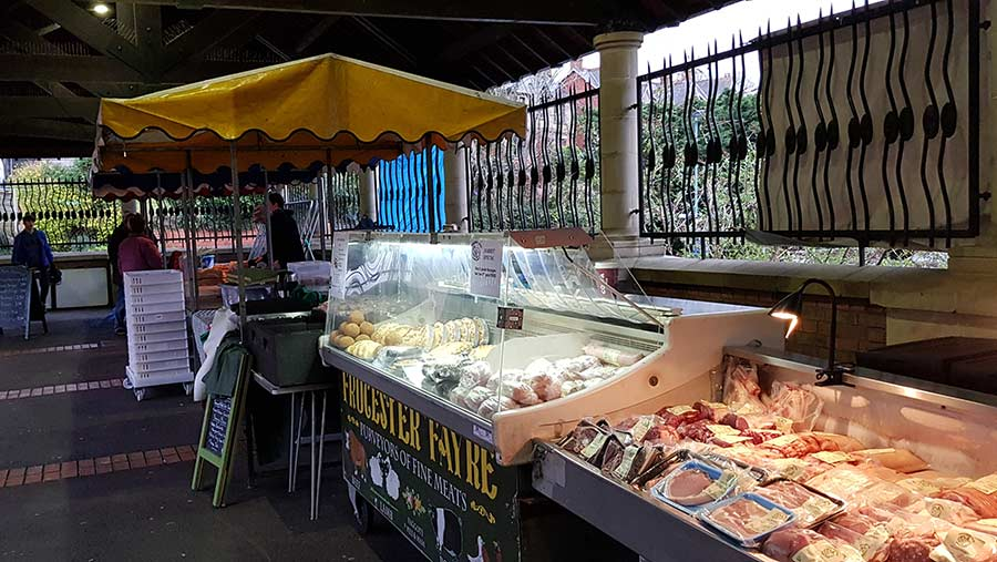 Frocester Fayre Farm's market stall