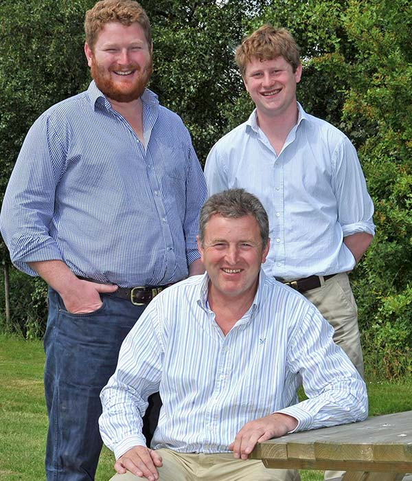 Alec (left), Robert (right) and Roger Mercer (front) © John Eveson