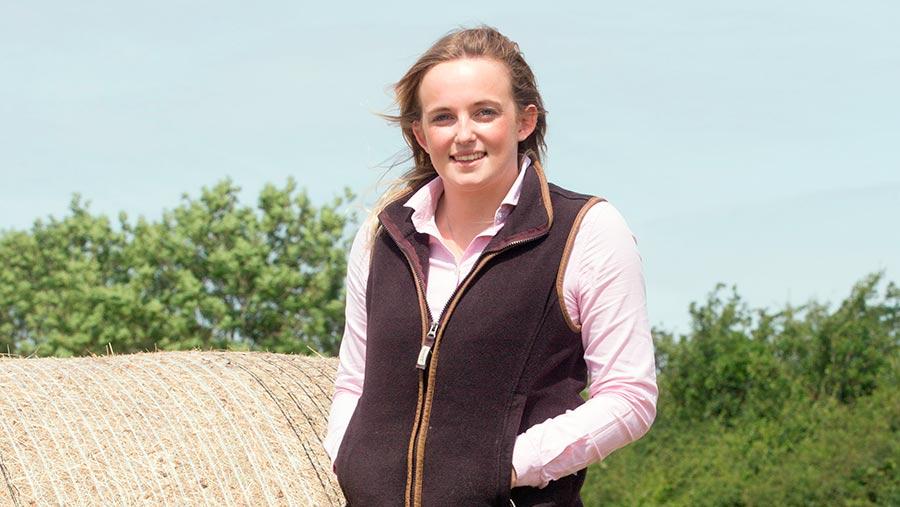Helen Brown standing in a field