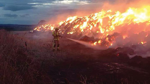 A straw fire from 2013 in Shropshire.