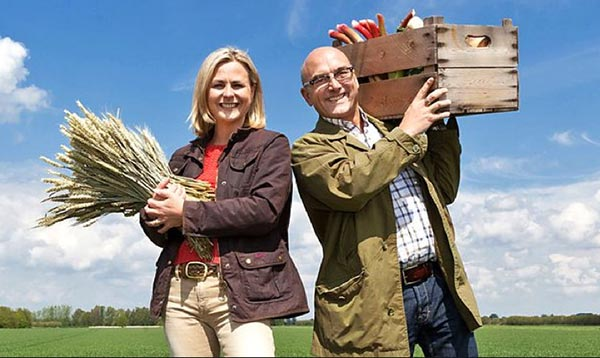 Philippa Forrester and Gregg Wallace