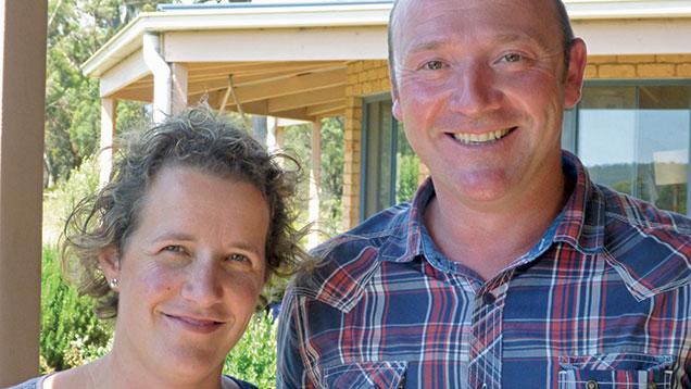 Peter Jones and wife Jo.