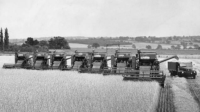 Combines at Margaretting-Hall in 1959. Today it is on the market for £8.25m.