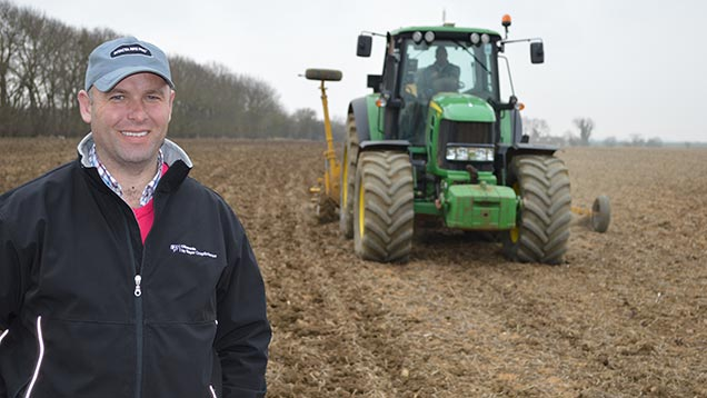 Spring bean drilling on Russell McKenzie's farm