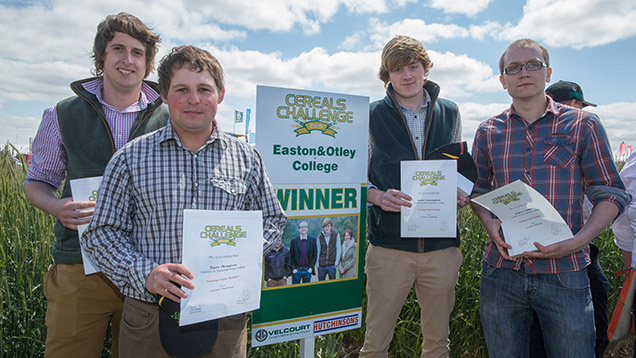 The Cereals Challenge 2015 winning team from Easton and Otley College. ©Tim Scrivener