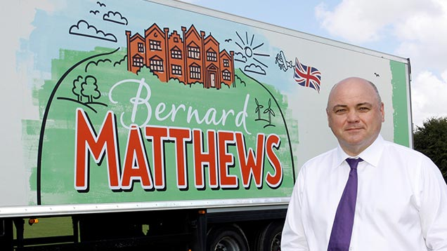 Bernard Matthews new brand lorry with Rob Burnett CEO