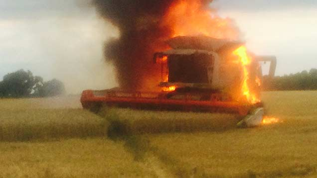 Picture sent in by farmer Chris Nott.