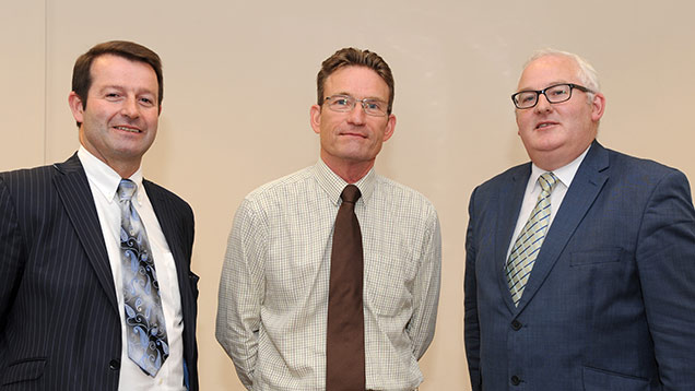 From left: Sean Fitzpatrick of BHSL, John Reed of Cargill Meats Europe, and Declan O'Connor of BHSL
