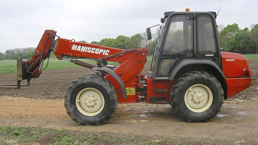 A telehandler similar to the one pictured was stolen from the farm.