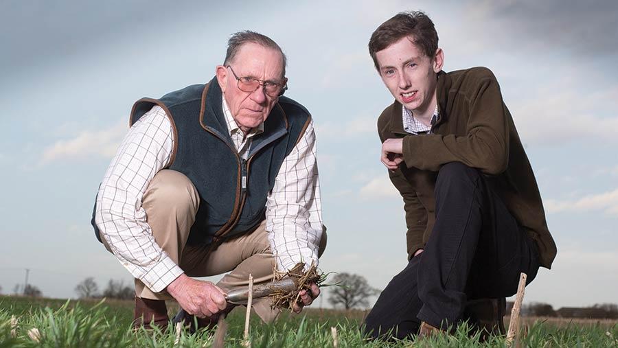 Tony Reynolds, pictured with grandson Sam Patrick.
