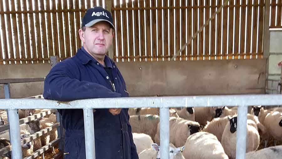 Tenant farmer Nick Lloyd, whose family has been served notice to quit their FBT