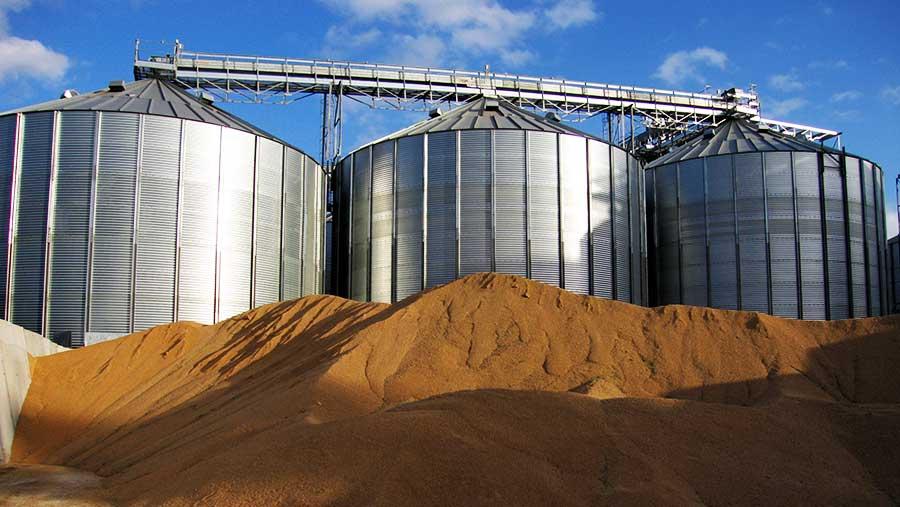 Grain storage silos © Andy Drysdal/REX Shutterstock