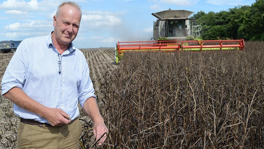 Mark Bowsher-Gibbs is farm manager at the new monitor farm in Sittingbourne, Kent © RBI