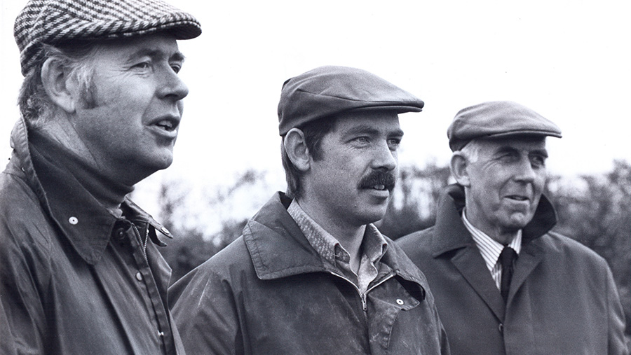 David with his brother Philip and their father Robert © Farmers Weekly