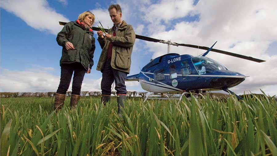 Crop Doctor plant pathologists Fiona Burnett and Jonathan Blake