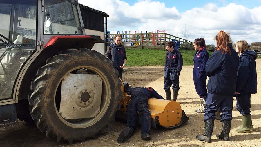 Training on the safe use of tractors © Farm Safety Foundation