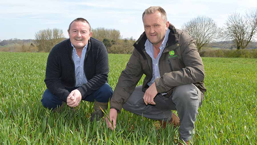Rufus Dudfield (right) and Mel Codd from Syngenta © David Jones/RBI