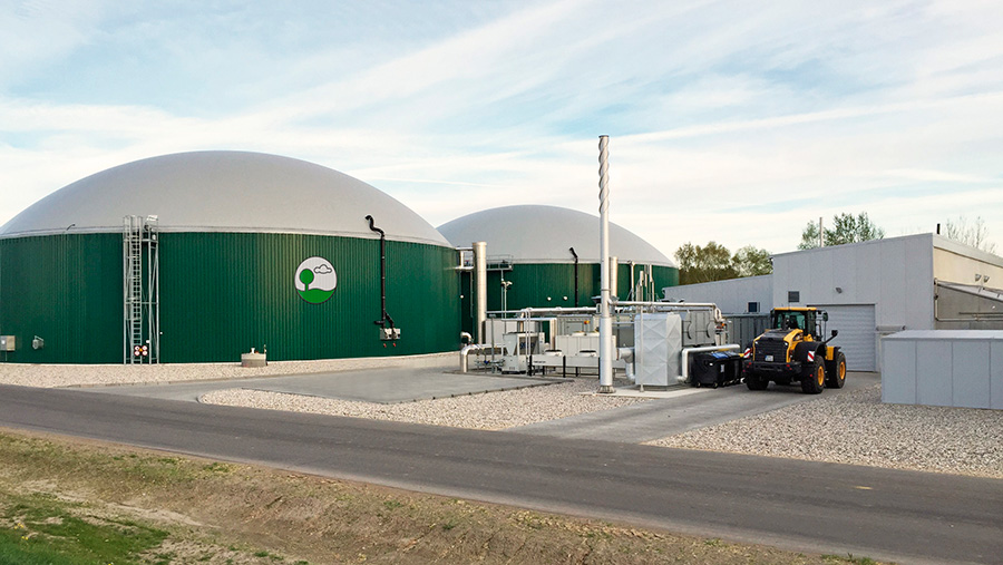The Wormslade Farm AD Plant is expected to be similar to the one above  when construction is completed © Raw Biogas
