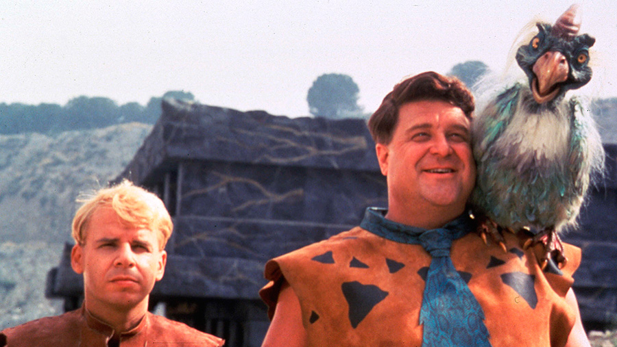 Rick Moranis and John Goodman, the stars of The Flintstones © Amblin Universal/REX/Shutterstock
