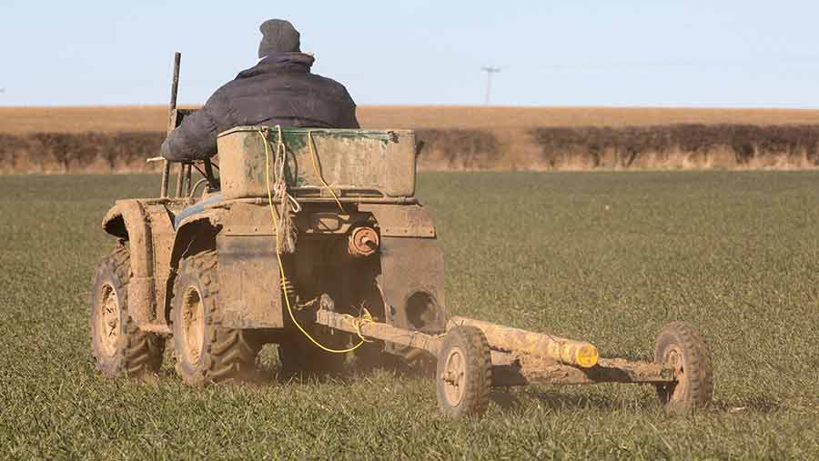 Using a quad-bike to map soil types © Tim Scrivener
