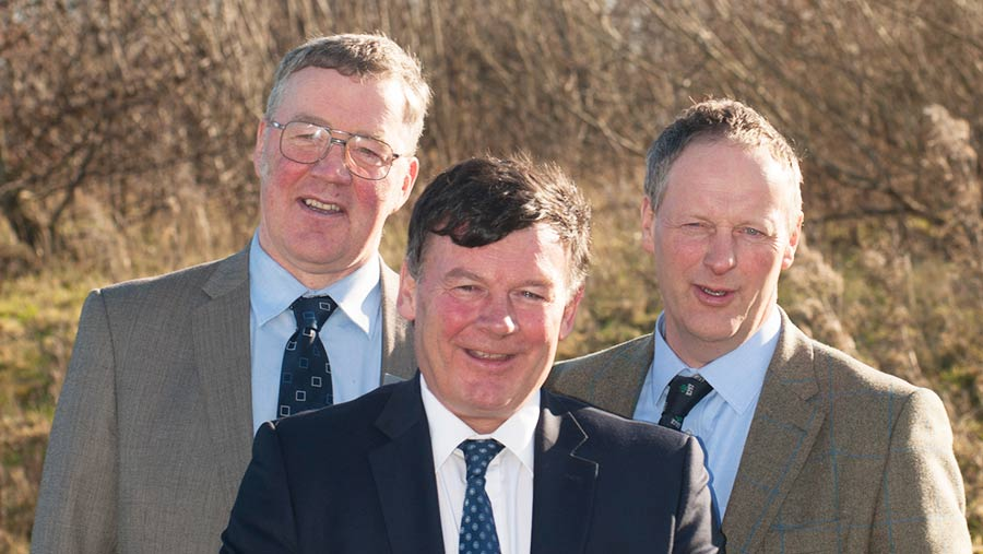 Left to right: Andrew McCornick, Allan Bowie, Rob Livesey