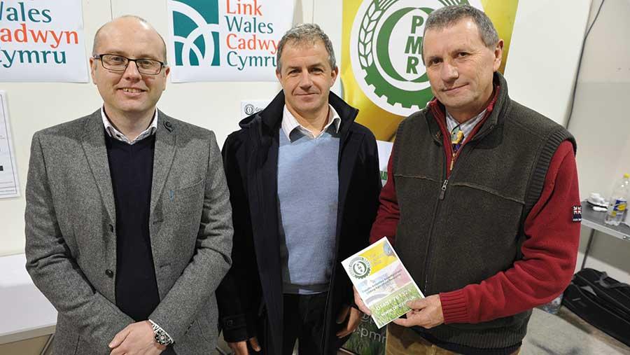 From left: Neil Davies (PMR general manager), Dewi Jones (Cadwyn Cymru Link Wales director), Ken Smith (PMR chairman)