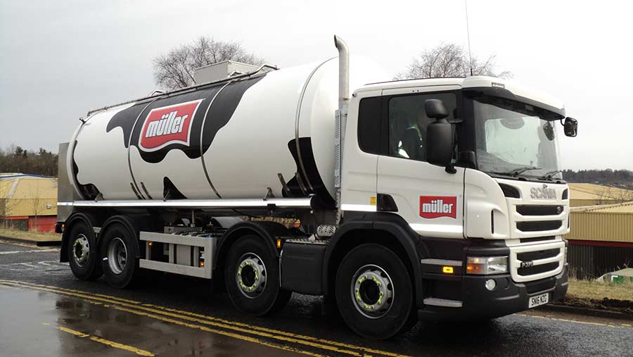 Muller milk tanker