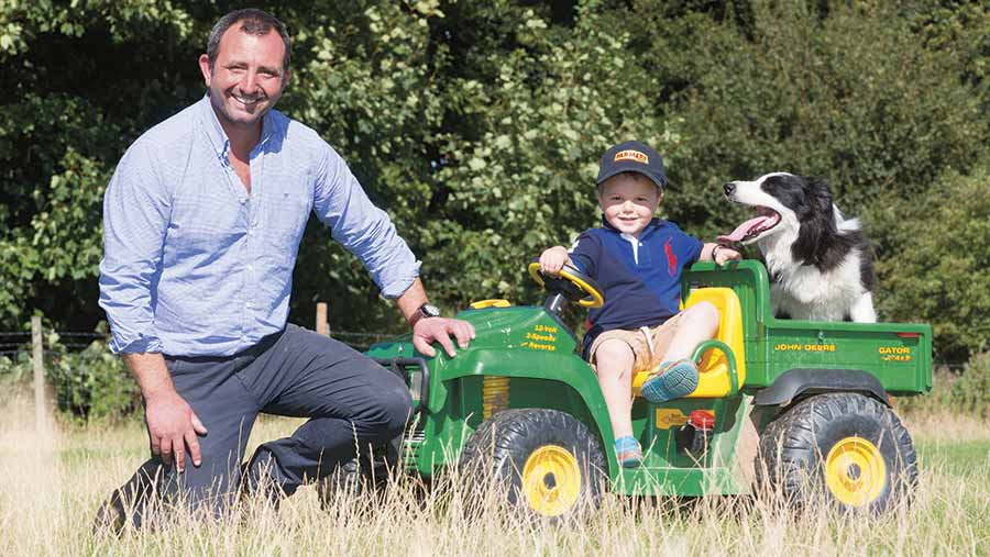 James Read with his son Tom © Tim Scrivener