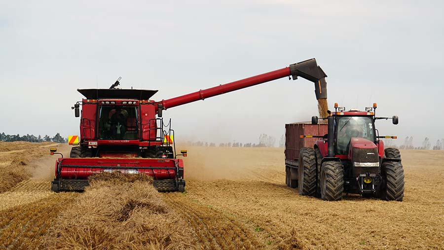 Prolonged rain has turned David Clark's harvest into a rescue mission