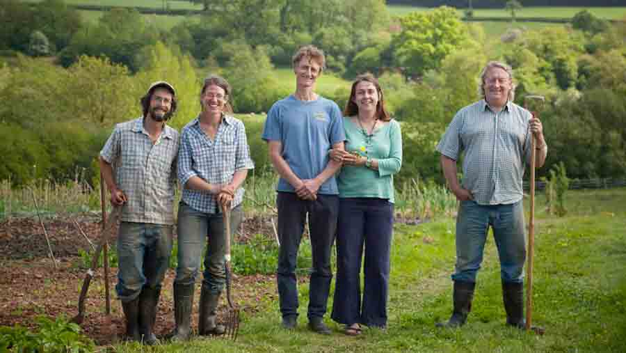 Smallholders involved in the ELC's Greenham Reach cluster farms project in Devon