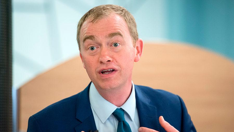 Liberal Democrat leader Tim Farron © Simon Chapman/LNP/REX/Shutterstock