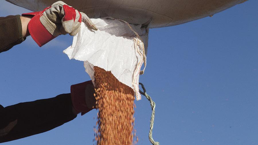 Drilling winter barley © Tim Scivener