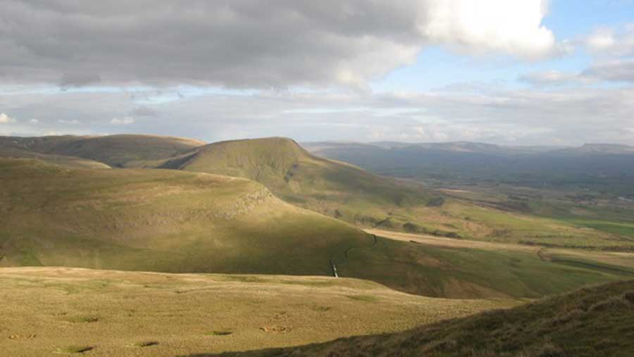 Roman Fell pictured from Murton Fell; common land at risk of deregistration