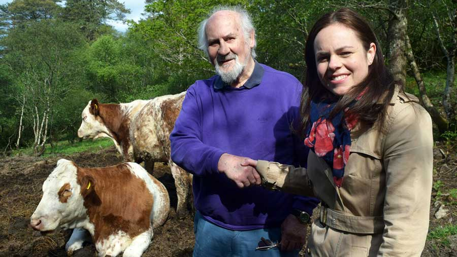 Duncan MacLennan won compensation for his dead cow after Kate Forbes, MSP for Skye, Lochaber and Badenoch took up his case
