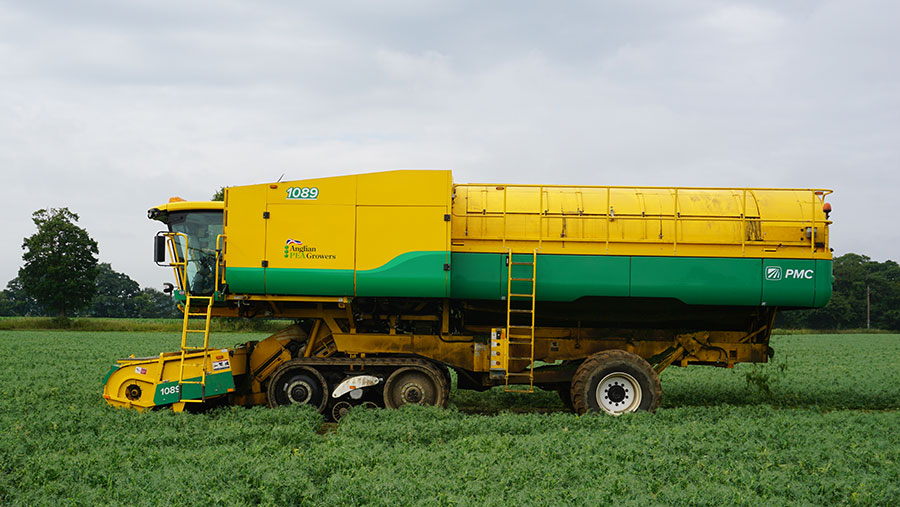 PMC tracked pea harvester