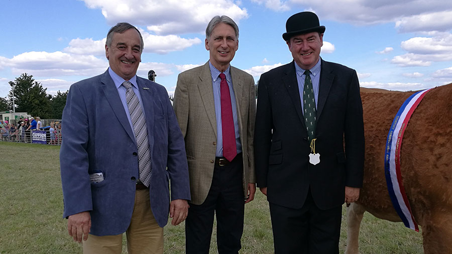 Meurig Raymond, Philip Hammond and Colin Rayner