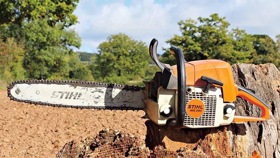 Stihl chainsaw © James Andrews