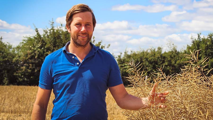 Farmer Time founder and Cambridgeshire farmer Tom Martin
