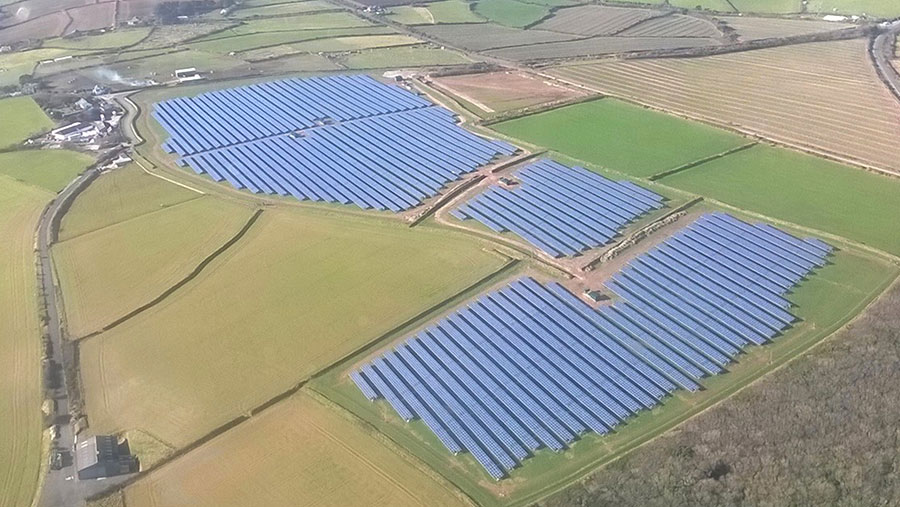 Gover Park solar farm in Cornwall was developed in 2013