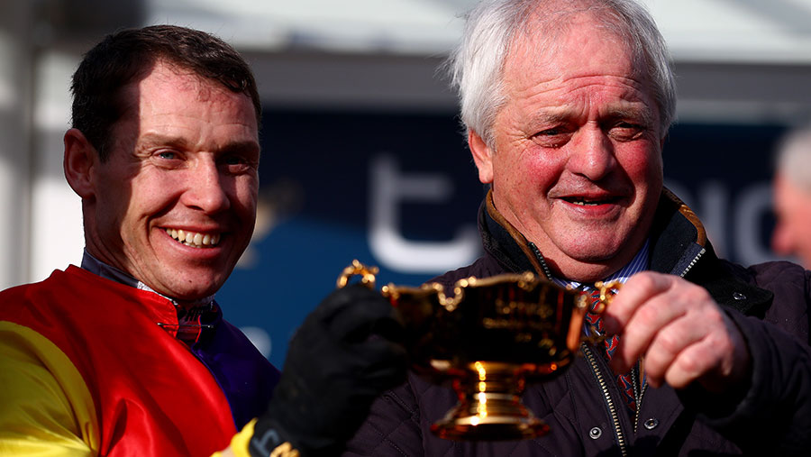 Jockey Richard Johnson and trainer Colin Tizzard © Kieran McManus/BPI/REX/Shutterstock