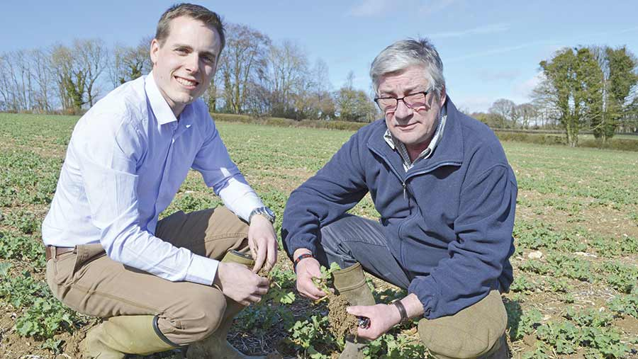 Independent agronomist Ben Burrows (left) and grower Michael Maxwell © David Jones/RBI
