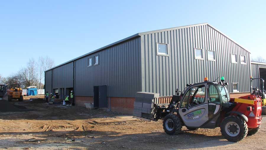 Crawfords depot under construction in April 2018