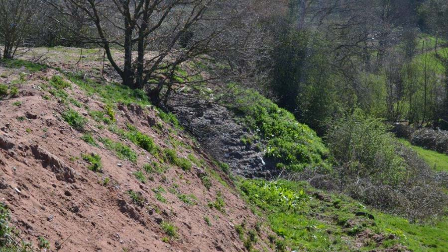 Waste was illegally buried on Lower Aston Farm