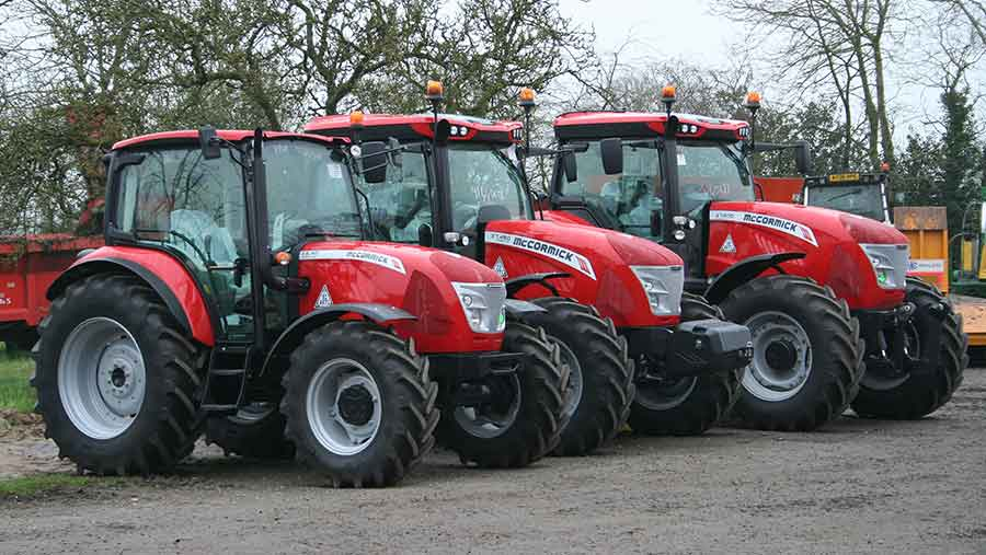 McCormick tractors. press release pic from David Eaton Tractors