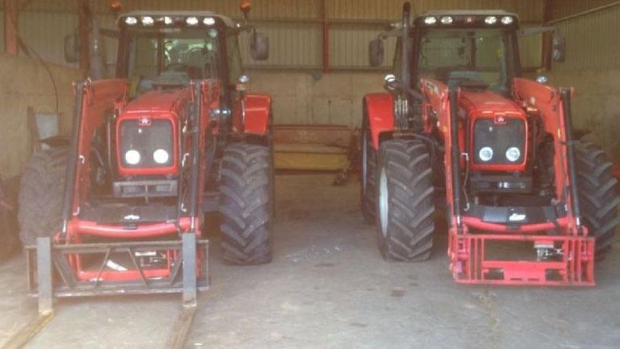 The stolen Massey Ferguson tractors